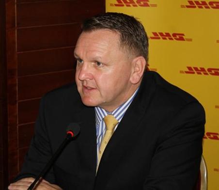 Charles Brewer, directeur général de la branche Afrique sub-saharienne de DHL Express