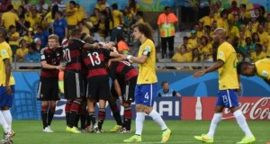 Le Brésil a sombré face à l'Allemagne (1-7) en demi-finale à Belo Horizonte. © Pedro UGARTE / AFP