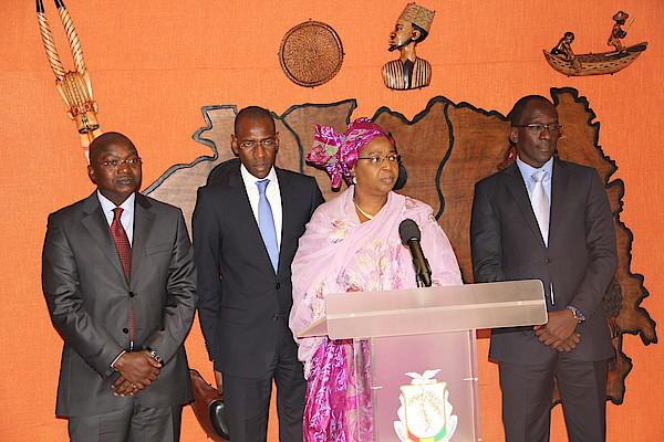 Delegation ministres senegalais en Guinee