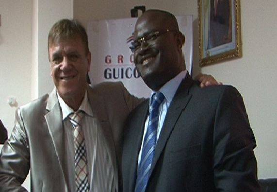 Le coach Antonio Dumas et le président de Hafia FC Kerfalla Person Camara
