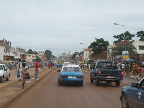 Une vue de Bissau la capitale de la Guinée- Bissau
