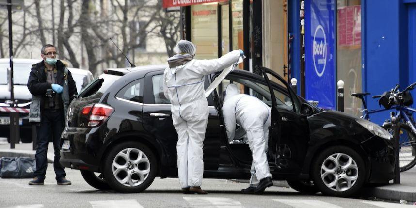 La voiture des assaillants Photo : AFP