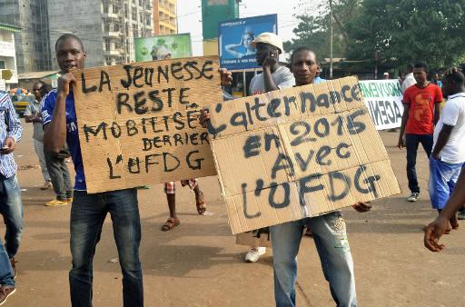 Manif opposition Guinee Conakry