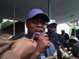 Ousmane Gaoual Diallo au siège de l'UFDG, le samedi 30 juillet