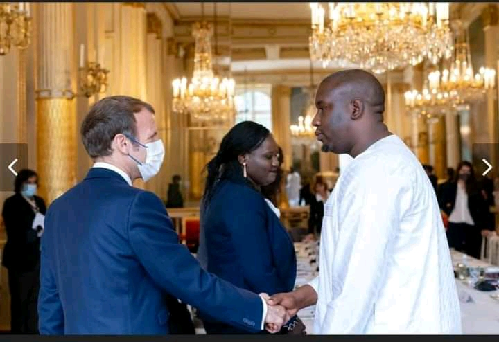 Aliou Bah du Model among young Africans selected to speak with Macron