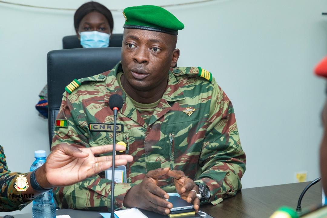 "After his installation, Colonel Amara Camara pledges: ""My determination is total"" """